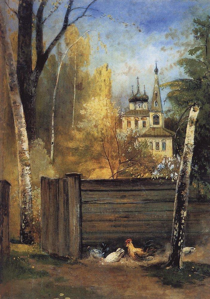 Весна провинциальный дворик 1880 1890 е